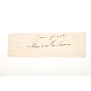 James Buchanan Clipped Signature
