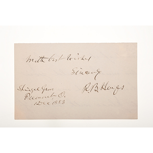 Rutherford B. Hayes Clipped Signature