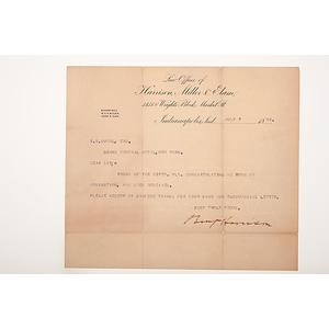 Benjamin Harrison DS, July 7, 1888