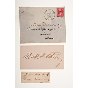 Chester Arthur & Grover Cleveland Signatures