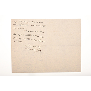Grover Cleveland ALS, August 1, 1897