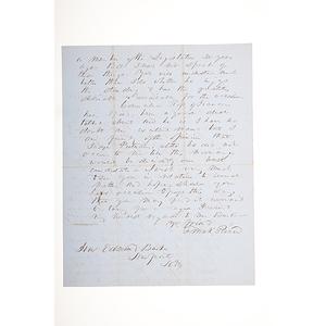 Franklin Pierce ALS, September 30, 1851