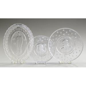 Three McKinley Pattern Glass Campaign Plates,