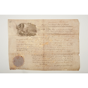 James Monroe Presidential Signed Land Grant, Plus