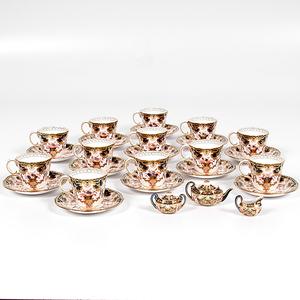 Royal Crown Derby Imari Demitasse Cups and Saucers, Plus