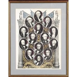 Presidential Portraits Kellogg Lithograph,