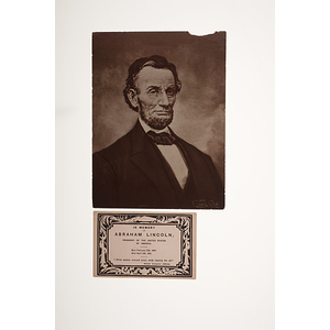 Abraham Lincoln Patriotic Cover, Portrait, & Mourning Card, Plus Johnson & Greeley Items