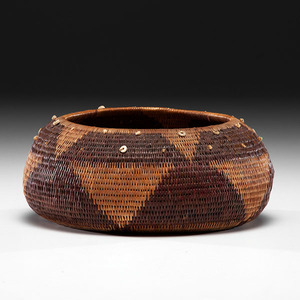 Pomo Gift Basket Deaccessioned from the Hopewell Museum, Hopewell, New Jersey