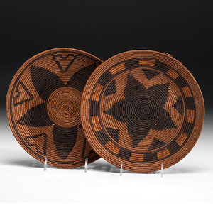 California Mission Basketry Plaques Deaccessioned From the Hopewell Museum, Hopewell, New Jersey