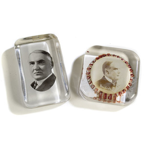 Two Political Paperweights,