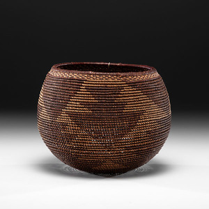 California Open-weave Basket Deaccessioned from the Hopewell Museum, Hopewell, New Jersey