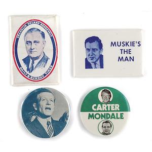 Four Political Pocket Mirrors,