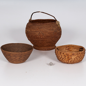 Southern California and Bannock Baskets Deaccessioned from the Hopewell Museum, Hopewell, New Jersey