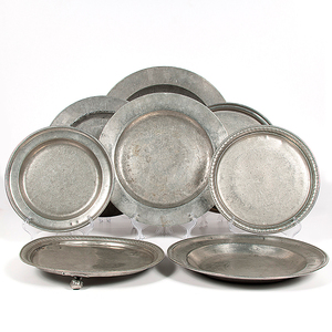 Pewter Chargers and Trays