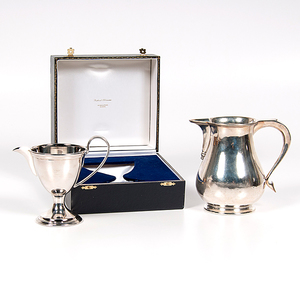 Contemporary English Sterling Pitcher and Creamer