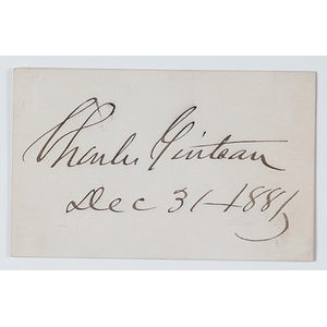 Charles Guiteau, American Preacher who Assassinated Pres. James Garfield, Clipped Signature