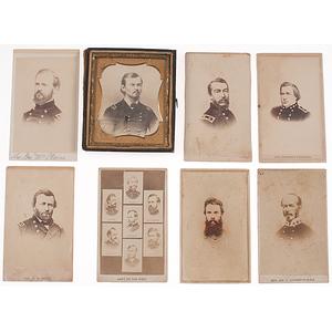 Civil War CDVs of Confederate & Union Generals, Incl. Humphrey Marshall, J.E. Johnston, & J.B. McPherson