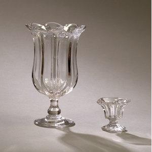 Pillar Mold Celery Vase and Flint Glass Master Salt,