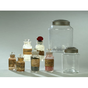 Eight Store and Apothecary Jars,