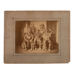 Otoe-Missouria Delegation, Washington, DC, 1881, Photograph Attrib. to John K. Hillers