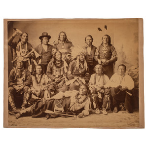Charles M. Bell Photograph of Ponca Delegation, 1877