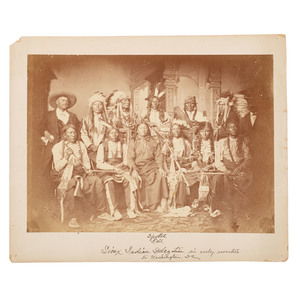Sioux Delegation of 1877, Three Photographs Taken in Washington, DC, by Mathew Brady