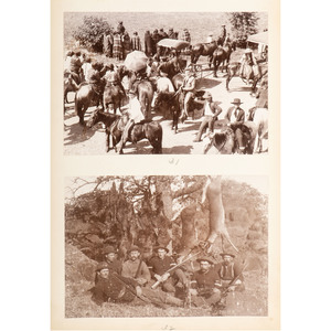 George W. Bretz, Remarkable Photograph Album of Kiowa and Comanche Indians, Incl. Portraiture and Parade Scenes