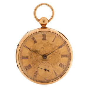 R. & G. Beesley 18 Karat Open Face Pocket Watch