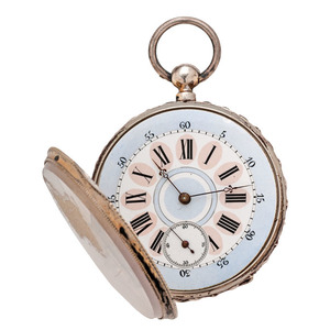 Open Face Swiss Pocket Watch, Ca 1850