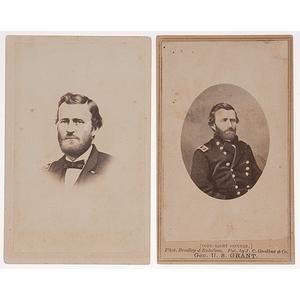 Rare CDV Pose of U.S. Grant, plus