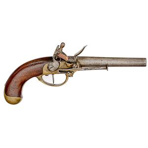 Model 1777 1st Pattern Single-Shot Flintlock Pistol, Maubeuge