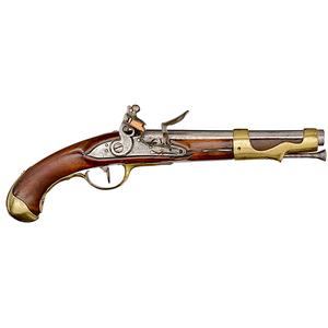 Model 1763/66 Type II Single-Shot Flintlock Pistol, Charleville