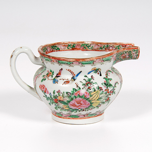 Chinese Export Rose Medallion Milk Jug