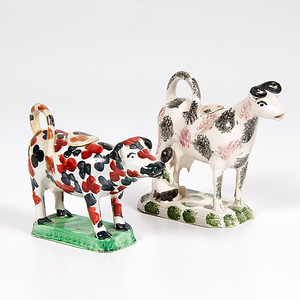 Staffordshire Figural Cow Creamers