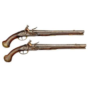 Matching Pair of Model 1733 Single-Shot Flintlock Pistols