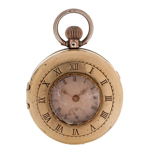 Paired Case Pocket Watch in .800 Silver