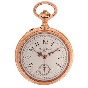 Bruder Klumak, Vienna Open Face 14 Karat Pocket Watch