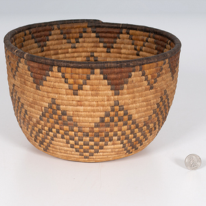 Hopi Second Mesa Basket Deaccessioned From the Hopewell Museum, Hopewell, New Jersey