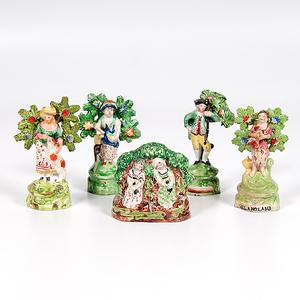 Staffordshire Bocage Figures