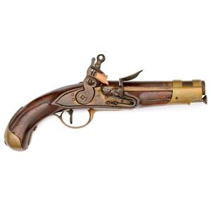 Gendarmerie des Ports Single-Shot Flintlock Pistol