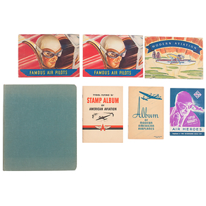 Premium Collection of Cigarette Aviation Trading Cards Representing Early 20th Century English and American Cigarette Makers, Plus