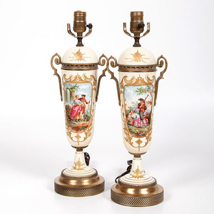 Sevres-Style Vases