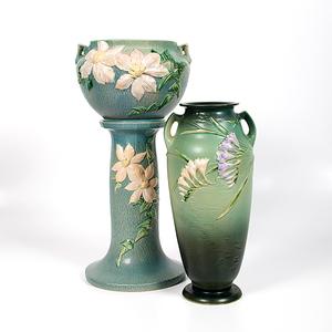 Roseville Pottery Jardiniere and Floor Vase