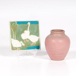 Rookwood Trivet and Vase