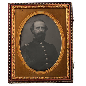 Quarter Plate Daguerreotype of Capt. Sylvester Nicholl, NY Marine Light Artillery, KIA
