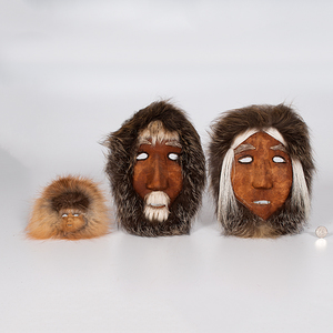Anaktuvuk Pass Eskimo Mask Family from the Historic Glen Isle Resort, Bailey, Colorado