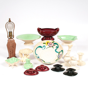 Cowan Pottery Tablewares and Lamp