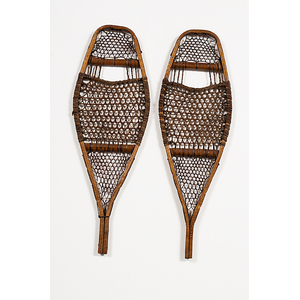 Miniature Wooden Snowshoes from a Minnesota Collection