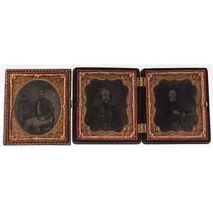 Two Sixth Plate Cased Images of Civil War Soldiers