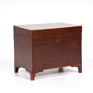 British Inlaid Document Box in Mahogany